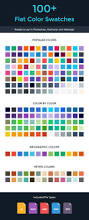 flat color swatches palettes creative market