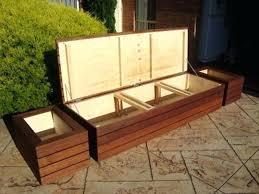 garden furniture storage built in bench with storage patio furniture