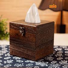wholesale boutique home decor wholesale new hot wood tissue box holder cover home decor bathroom