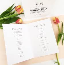 Wedding Program Order Customise Your Wedding Program Roco U0026 Miley