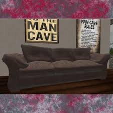 Worn Leather Sofa Second Life Marketplace Dad U0027s Overstuffed Worn Out Leather Sofa