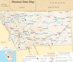 Minnesota State Map Montana State Map A Large Detailed Map Of Montana State Usa