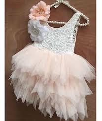 buy blush and white lace bodice tulle tutu flower dress