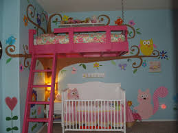 Loft Beds Maximizing Space Since Love The Hot Pink Loft Bed Against The Blue Wall Love All The