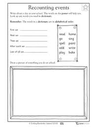 recounting events kindergarten worksheets support learning at