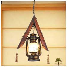 Lantern Pendant Light Fixture Bamboo Lighting Fixtures Discount Rustic Vintage Nostalgic Bamboo