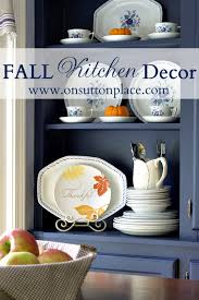 Fall Kitchen Decor - fall decor in the kitchen on sutton place