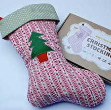 make your own christmas stocking kit by love me sew