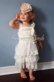country wedding flower dresses baby ivory lace christening wedding baptism dress flower