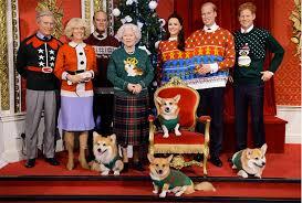 madame tussauds royal family wax figures christmas sweaters