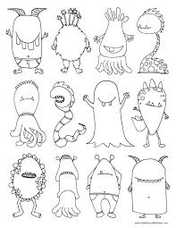monsters coloring dabbles u0026 babbles