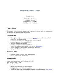 cover letter objective for secretary resume good objective for