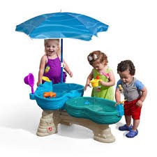 step2 wheels table step2 spill splash seaway water table umbrella wheel outdoor