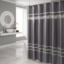 Black And White Vertical Striped Shower Curtain Buy Stall Size Shower Curtains From Bed Bath U0026 Beyond