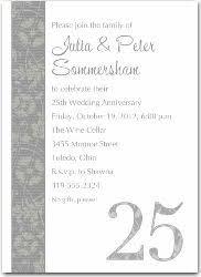 25th wedding anniversary invitations 25th wedding anniversary invitations wedding invitations
