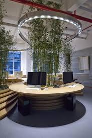 jw associates plants bamboo office interior in shanghai regarding