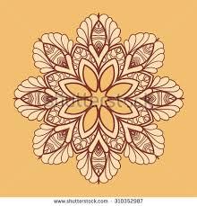 mandala design abstract background stock vector