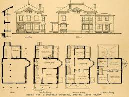 floor plans mansions vintage house plans home for antique 34