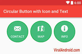android studio button circular button with icon and text in android viral android