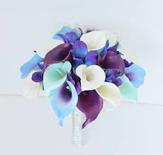 purple calla lilies real touch mix of calla lilies in white purple purple