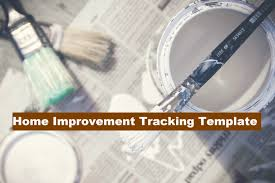 Microsoft Spreadsheet Template Home Improvement Tracker Microsoft Excel Spreadsheet