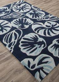 Cobalt Blue Area Rug Blue Coral Reef Hooked Rug Rugs Navy Blue And Navy