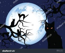 halloween mystical night mysterious moon sky stock vector 62738902