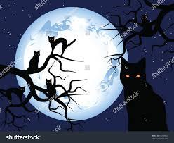 halloween mystical night mysterious moon sky stock vector 62738902