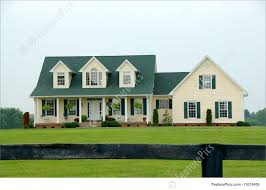 two story farmhouse photograph of farmhouse in the country