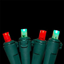 set of 150 red and green chasing 8 function mini christmas lights