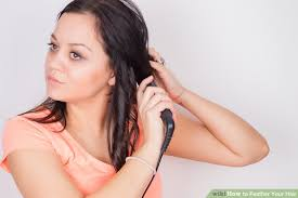 feathered brush back hair how to feather your hair 13 steps with pictures wikihow