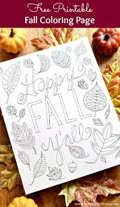 happy fall y u0027all free printable coloring page