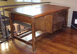 Drafting Table Storage Hamilton 1953 Drafting Table With Flat Storage Ebay