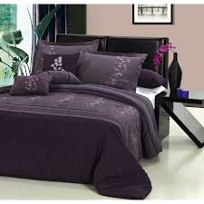 Pinterest Purple Bedroom by Purple And Grey Bedding Sets Flower 8 Piece Oversized And