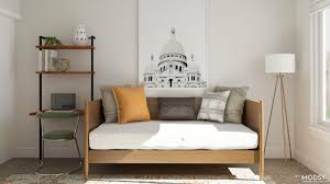 how to decorate a guest room simple office meets guest room decorating ideas u2013 modsy blog