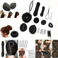 bun accessories 1set diy hair styling accessories tools kit set hair bun maker