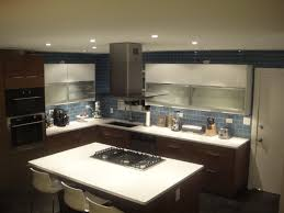 Kitchen Cabinet Remodel Cost Grey And White Kitchen With Light Wood Open And Closed Cabinets