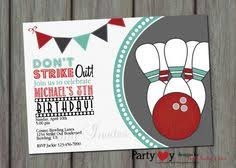 bowling invitation birthday party bowling by loveleedesigns1