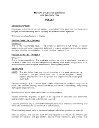 job summary resume examples welding responsibilities