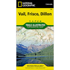 Vail Map 108 Vail Frisco Dillon Trail Map National Geographic Store