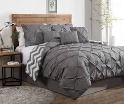 Sunset Comforter Set 7 Piece Ella Pinch Pleat Reversible Comforter Set Grey Gordmans