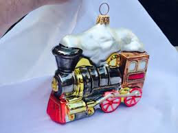vintage christmas glass ornament train in the christopher radko