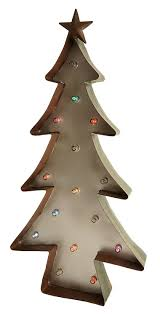 20 inch led lighted color changing metal christmas tree home decor