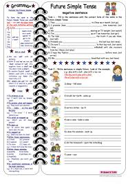 18 free esl negative sentences worksheets