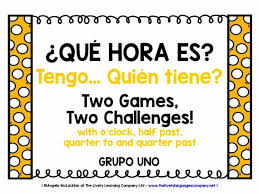 spanish telling the time 1 2 games u0026 challenges i have who