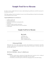 server resume template food server resume exles free resume templates server