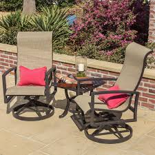 Patio Chair With Ottoman Set Furniture Lowes Bistro Set For Creating An Intimate Seating Area