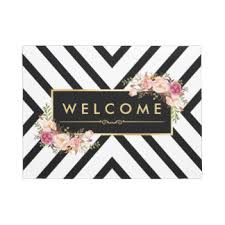 David Low The Doormat Vintage Floral Pattern Gifts On Zazzle