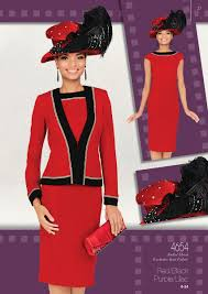 church suits jacket dress exclusive knit fabric colors red