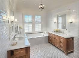 bathrooms design green bathroom tiles cream subway tile mirrored